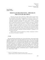 Seksualni delinkventi-program prevencije recidiva
