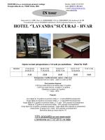 HOTEL LAVANDA HVAR-SUĆURAJ
