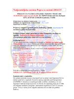 Natjecateljska sezona 2014-15