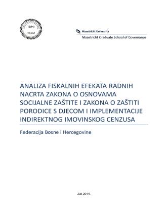 analiza fiskalnih efekata radnih nacrta zakona o osnovama