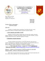 Dopis DVD/VZO/VZG/JVP - Vatrogasna zajednica Krapinsko