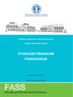 Psihologija - International University of Sarajevo