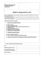 Zahtjev za uslugu pomoći u kući - Centar za socijalnu skrb Sisak