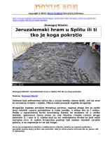 Jeruzalemski hram u Splitu ili ti tko je koga pokrstio