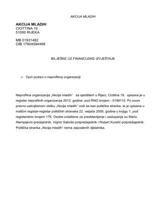 (BILJEŠKE -NEPROF.-AKCIJA MLADIH 2011.)