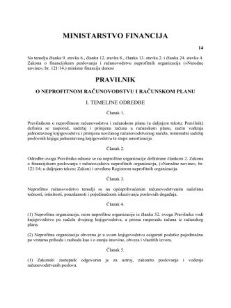 1 02.01.2015 Pravilnik o neprofitnom računovodstvu i