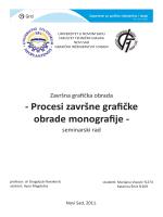 Procesi završne grafičke obrade monografije