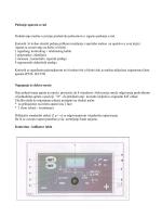 Puštanje aparata u rad - Moser-DIS