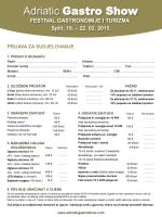 Prijavnica - Adriatic Gastro Show