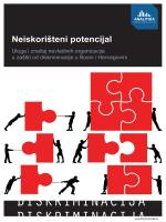 Neiskorišteni potencijal: Uloga i značaj nevladinih organizacija u