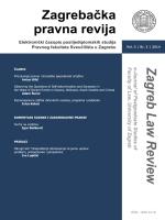 ZAGREBAČKA PRAVNA REVIJA Elektronički časopis
