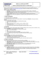 Upute za popunjavanje Prijave za certificiranje