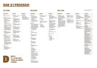 DAN D 2012 - PROGRAM - Hrvatsko dizajnersko društvo