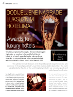 DODIJELJENE NAGRADE LUKSUZNIM HOTELIMA Awards to