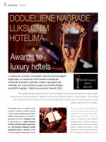 DODIJELJENE NAGRADE LUKSUZNIM HOTELIMA Awards to