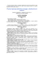 Pravila mjerenja električne energije u distributivnom sistemu