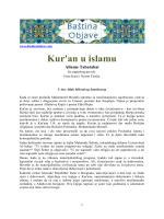 Kur`an u islamu (pdf dokument)