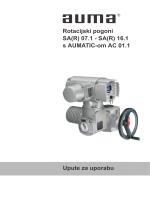 DrehantriebeSA(R) 07.1 - SA(R) 16.1mit AUMATIC AC 01.1