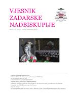 vjesnik 1-2 2012 - Vjesnici Zadarske nadbiskupije