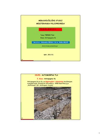 Antropogena tla - Mediteranska poljoprivreda
