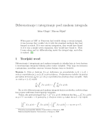 Diferenciranje i integriranje pod znakom integrala