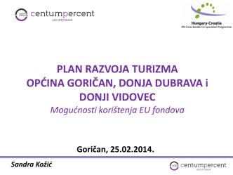 6. Plan razvoja turizma općina Goričan, Donja Dubrava i Donji