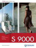 S 9000 podizno-klizna vrata