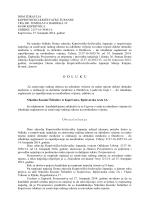 Odluka-doktor dentalne medicine u Đurđevcu