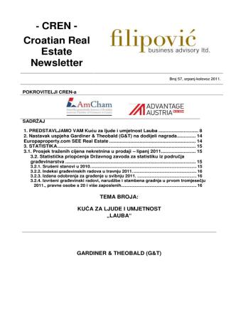 - CREN - Croatian Real Estate Newsletter