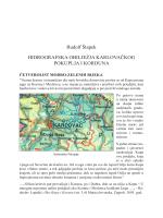Rudolf Štapek: Hidrografska obilježja karlovačkog Pokuplja i Korduna