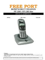 BEŽIČNI DECT TELEFON FP 1203 / FP 1203 duo