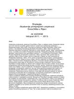 Strategija Akademije 2011-2013