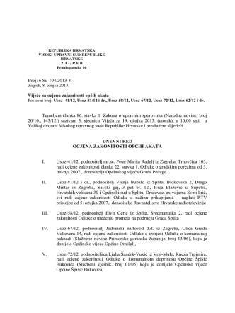 3. sjednica vijeća – 19. ožujka 2013.