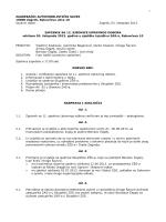 Zapisnik s 12 sjednice Upravnog odbora