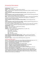 Plan kapaciteta ili Tablica kapaciteta Capacities of holds and