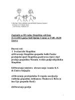 Zapisnik sa III radne Skupštine održane 21.12.2011.god.u
