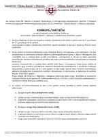 KONKURS / NATJEČAJ