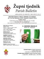 Župni tjednik 25. svibanj 2014.
