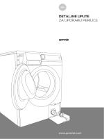 detaljne upute za uporabu perilice