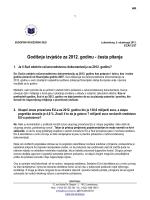 Godišnje izvješće za 2012. godinu - česta pitanja