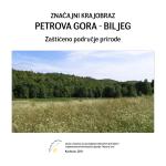 """Značajni krajobraz """"Petrova Gora - Biljeg"""": Zaštićeno"""