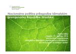 Nacionalna politika prilagodbe klimatskim promjenama