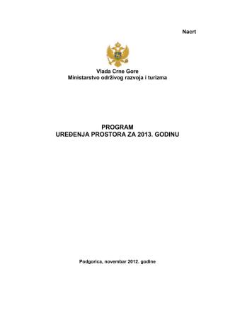 - Ministarstvo održivog razvoja i turizma