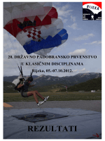Rezultati 20. Državnog padobranskog prvenstva u klasičnim