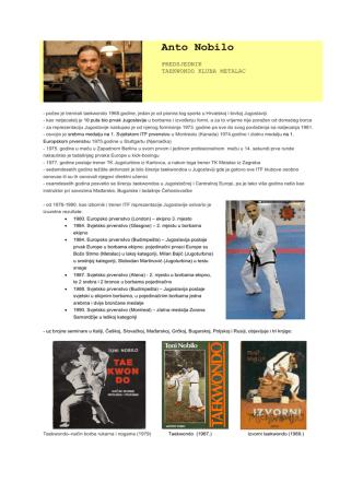 Anto Nobilo - Taekwondo klub Metalac