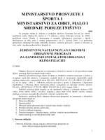 MINISTARSTVO PROSVJETE I ŠPORTA I - BQ