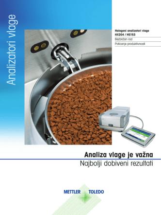 Brochure: Halogeni analizatori vlage HX204 / HS153