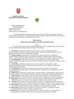ODLUKA o dodjeli studentskih stipendija za akademsku 2014/2015