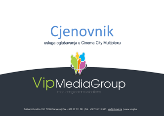Cjenovnik PDF - Kino oglašavanje | VIP media group