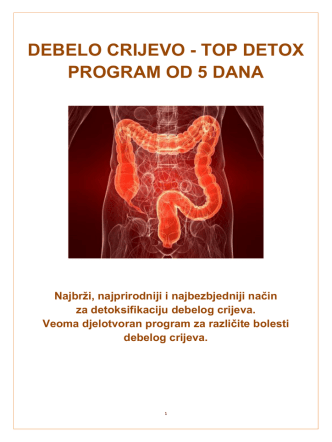 DEBELO CRIJEVO - TOP DETOX PROGRAM OD 5 DANA